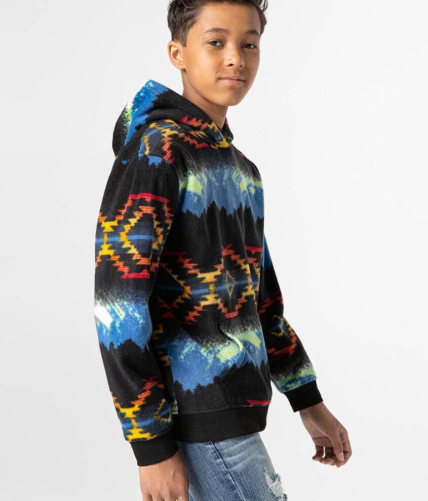 Boys - Departwest Cozy Fleece Hooded Sweatshirt front view