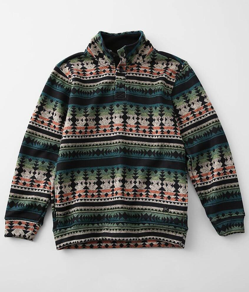 Boys - Departwest Southwestern Henley Pullover front view