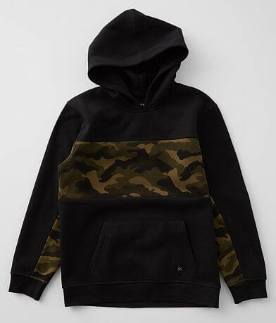Boys - Departwest Blocked Camo Hooded Sweatshirt