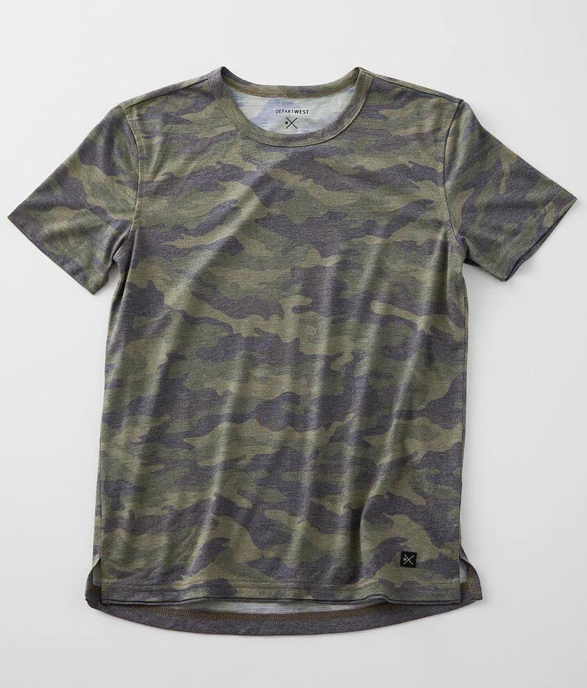 Boys - Departwest Camo Print T-Shirt front view
