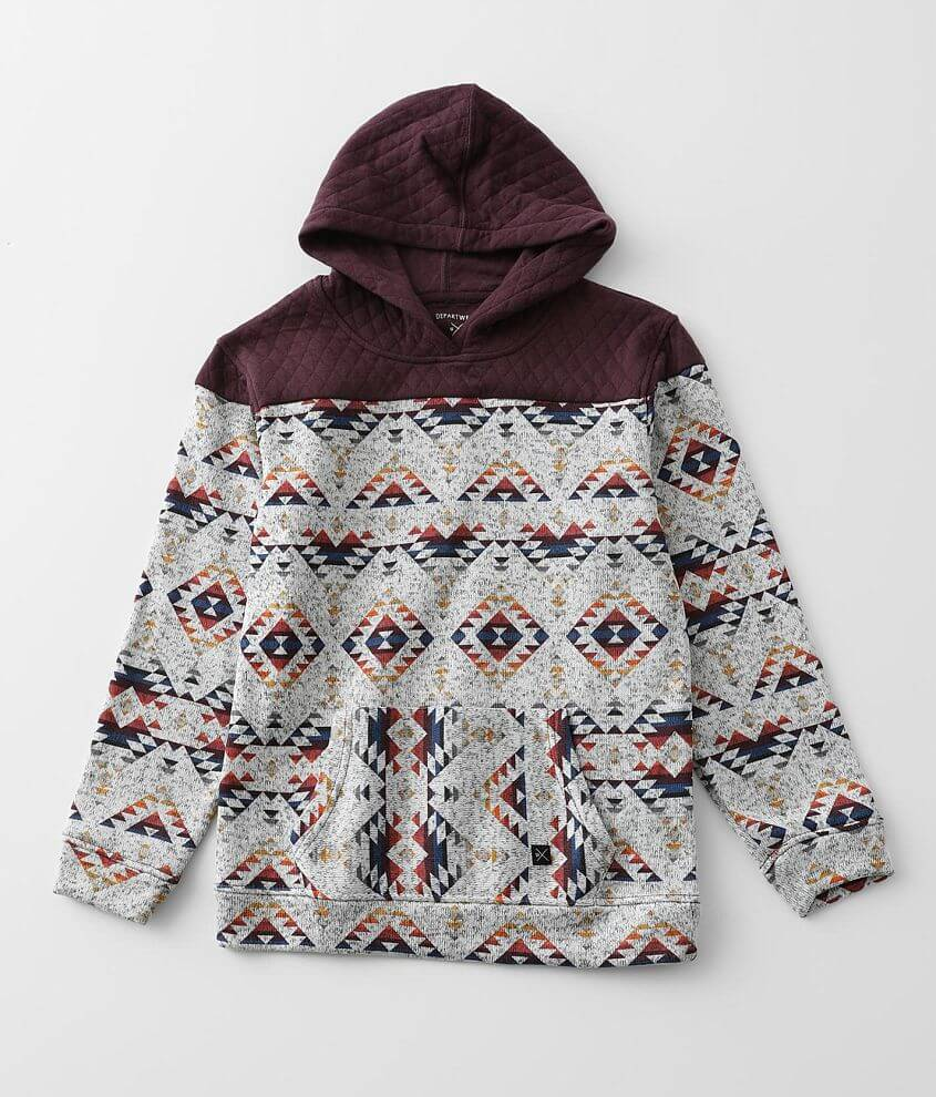 Boys - Departwest Quilted Hoodie front view