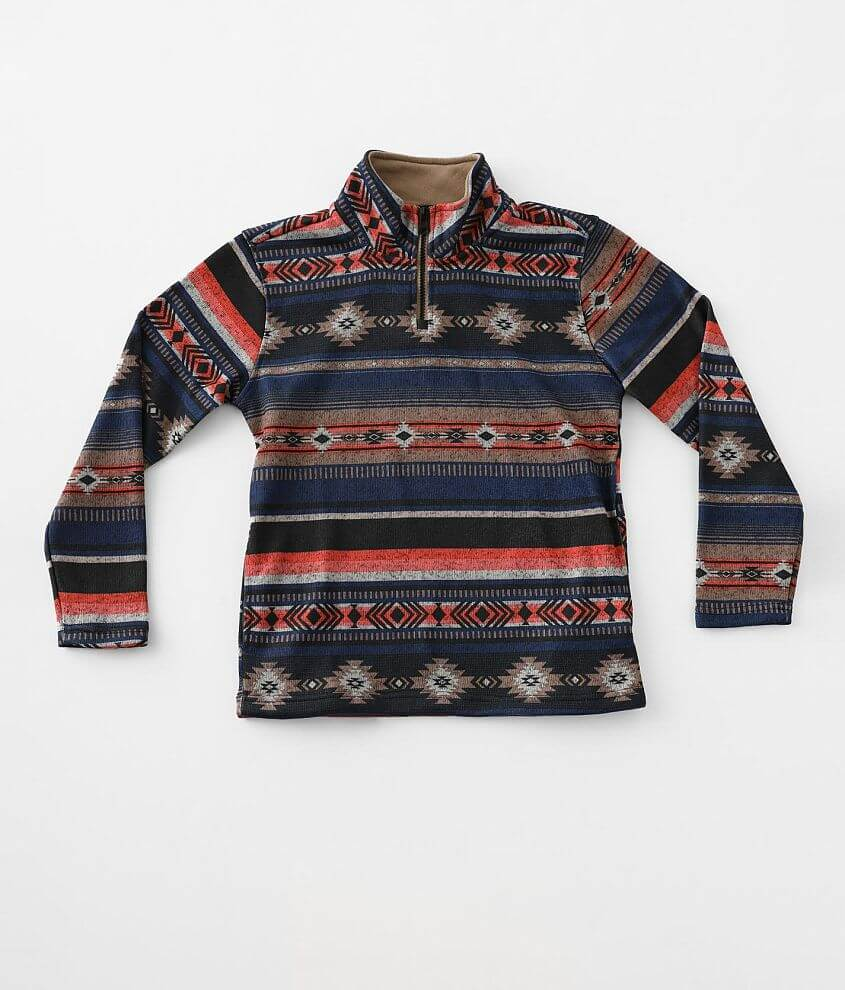 Boys - Departwest Southwestern Print Pullover front view