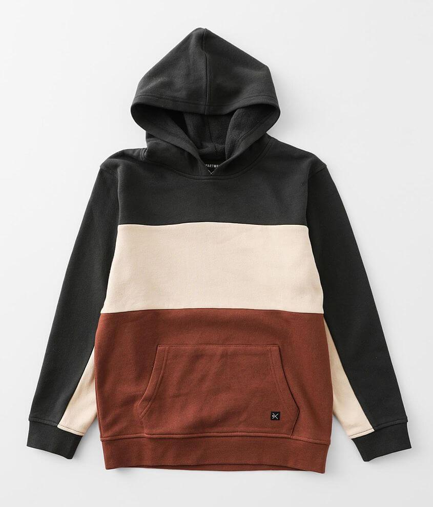 Boys - Departwest Color Block Hooded Sweatshirt front view