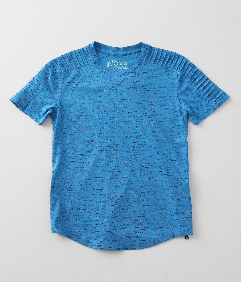 Boys - Nova Industries Splatter Side Zip T-Shirt front view