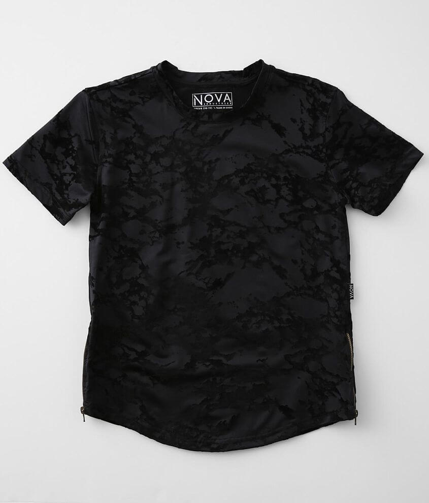 Boys - Nova Industries Flocked Marble T-Shirt front view