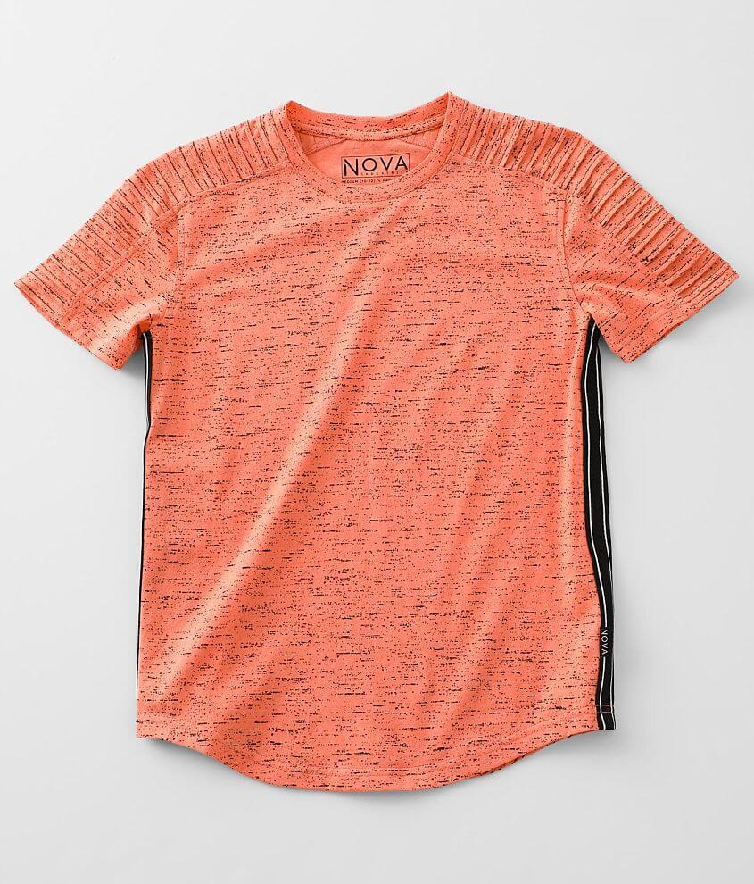 Boys - Nova Industries Splatter Long Body T-Shirt front view