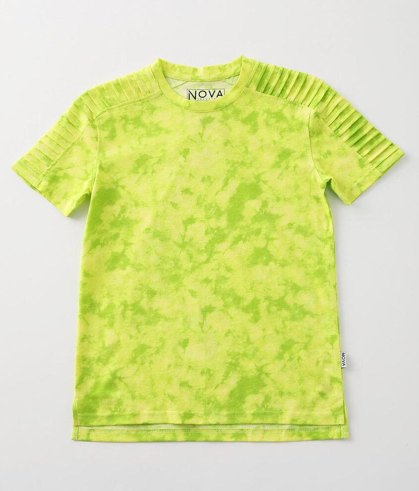 Boys - Nova Industries Tie-Dye Moto T-Shirt front view