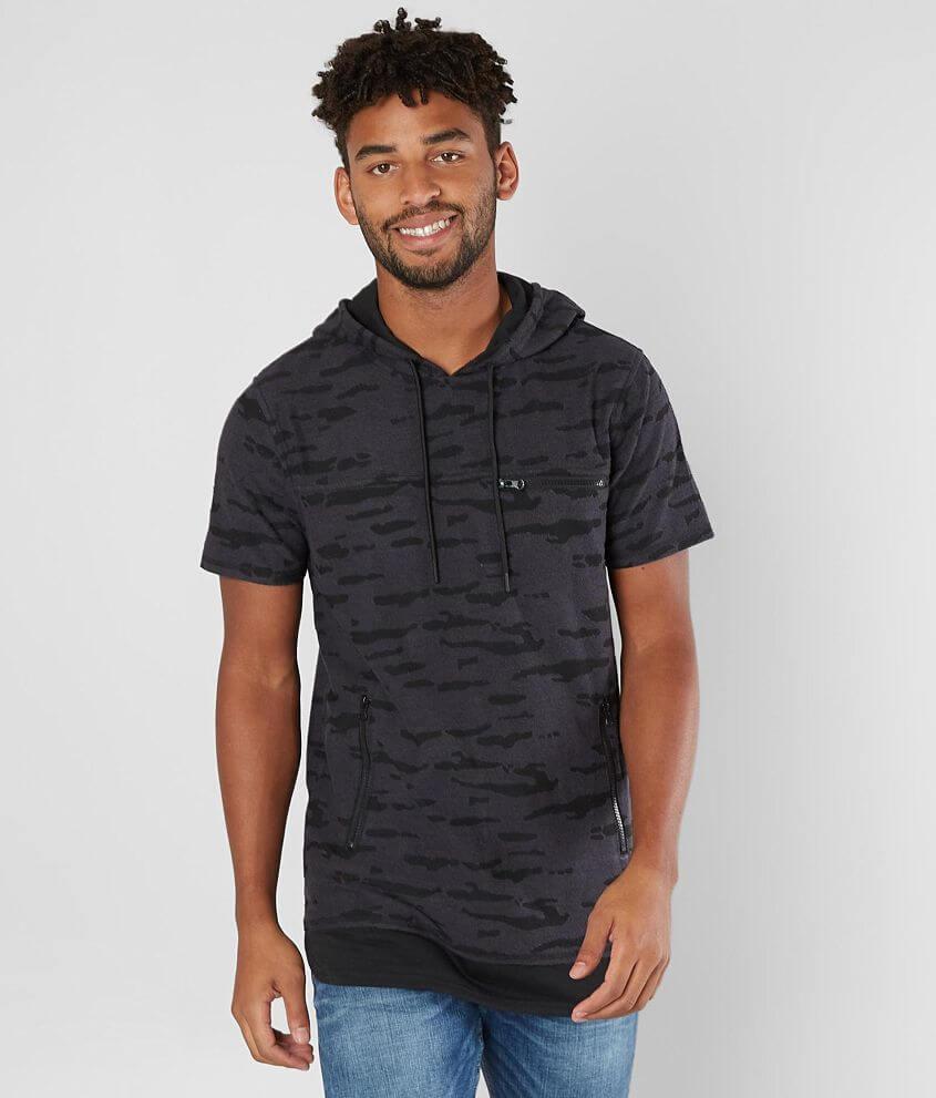 Nova Industries Camo Burnout Hooded T-Shirt front view