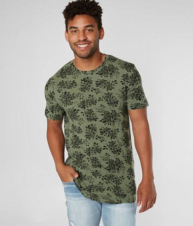 Nova Industries Floral Long Body T-Shirt