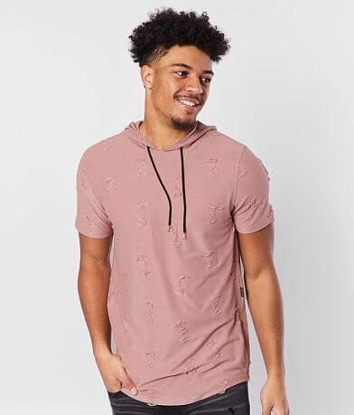 Nova Industries Raw Edge Hooded T-Shirt