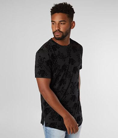 Nova Industries Flocked Floral T-Shirt