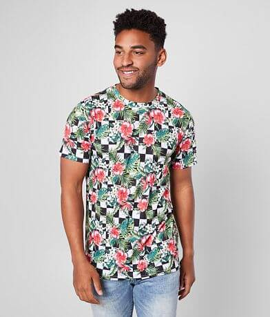 Nova Industries Checked Floral T-Shirt