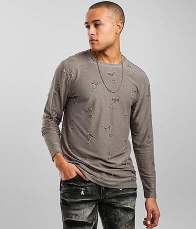 Nova Industries Distressed Long Body T-Shirt