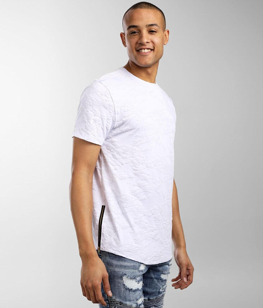Nova Industries Flocked Marble Print T-Shirt front view