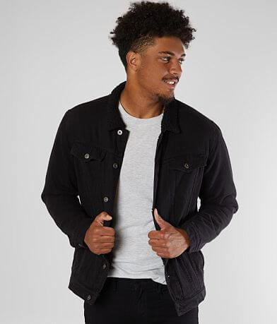 Nova Industries Denim Sherpa Lined Jacket