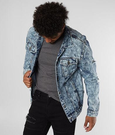 Nova Industries Acid Wash Denim Jacket