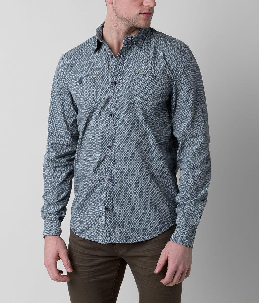 Buffalo Sifez Shirt Mens Shirts In Midnight Blue Buckle