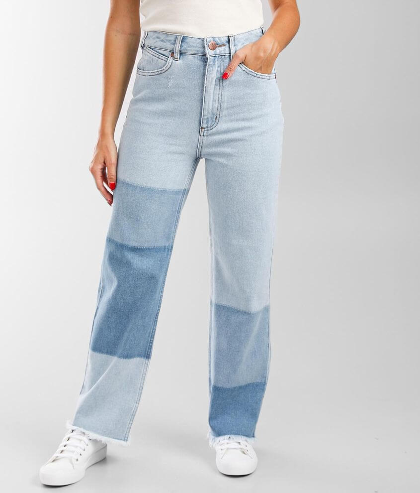 Billabong Patch It Up High Rise Straight Jean front view