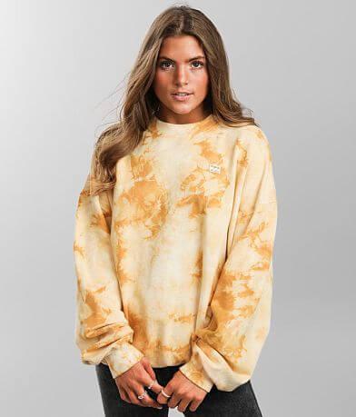 Billabong Ride In Tie Dye Oversized Pullover