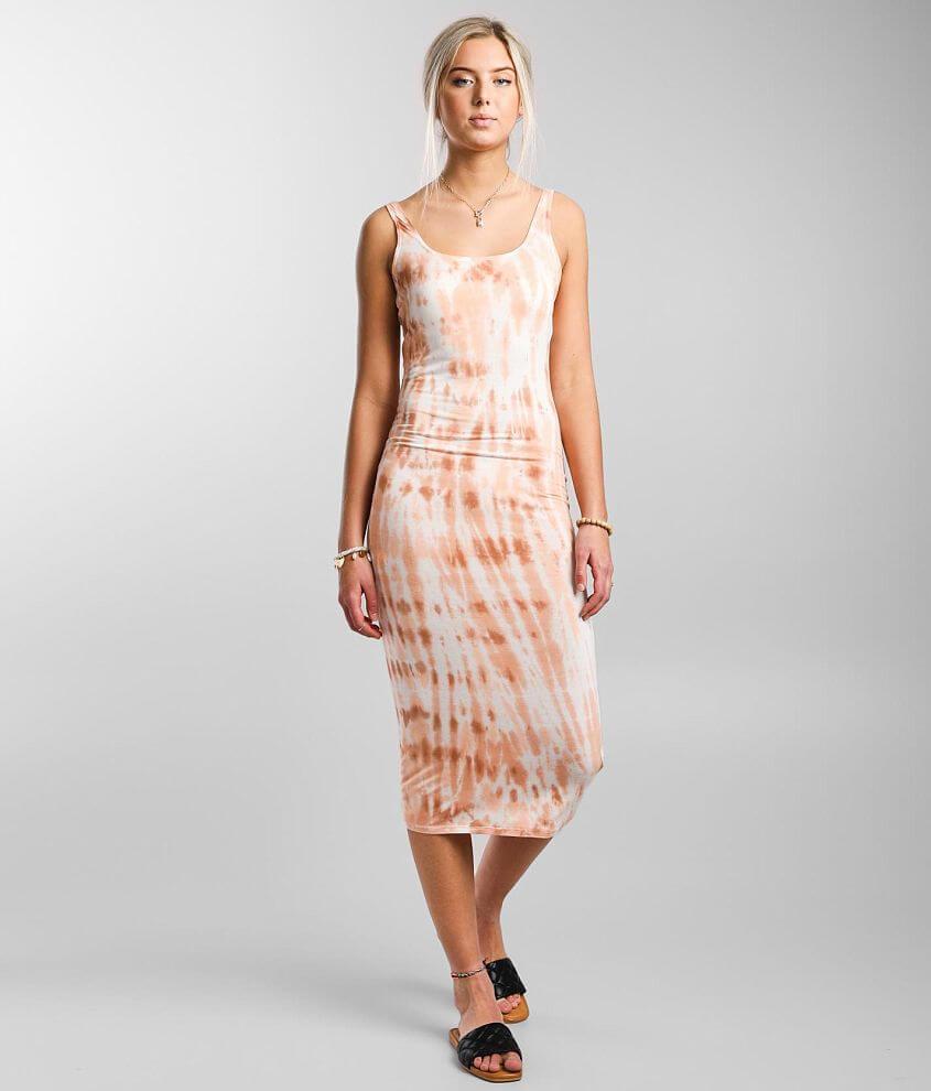 Billabong Warm Waves Midi Dress front view