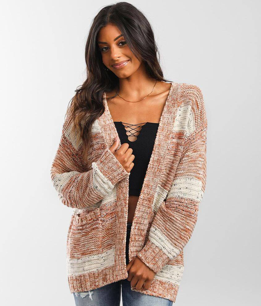 Billabong So Cozy Cardigan Sweater front view