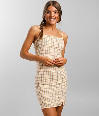 Billabong Cruising Checkered Mini Dress