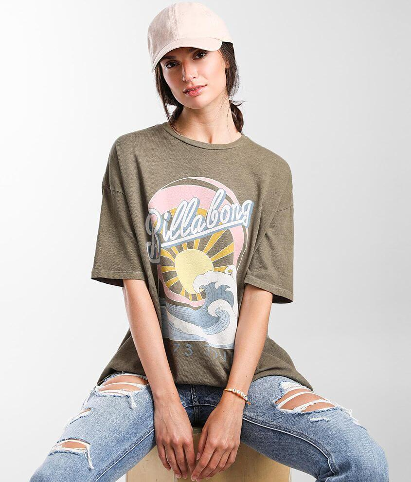 Billabong Stay Wavy Baby Oversized T-Shirt front view