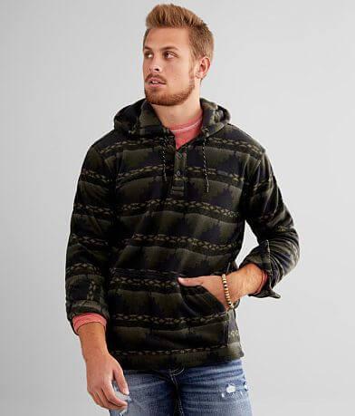 Billabong Furnace Fleece Hooded Henley Sweatshirt