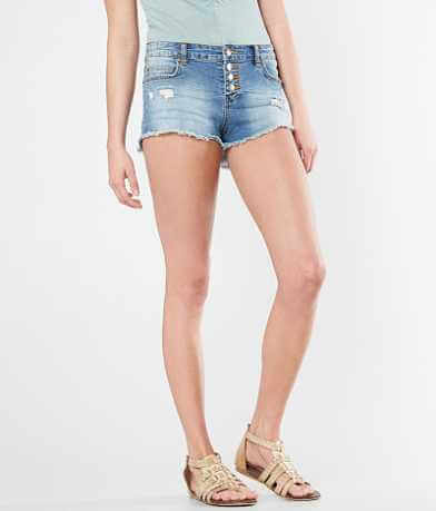 Billabong Buttoned Up Frayed Stretch Short