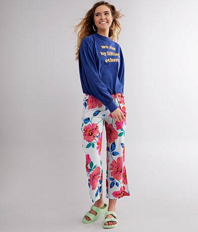 Billabong Cut Through Floral Wide Leg Pant
