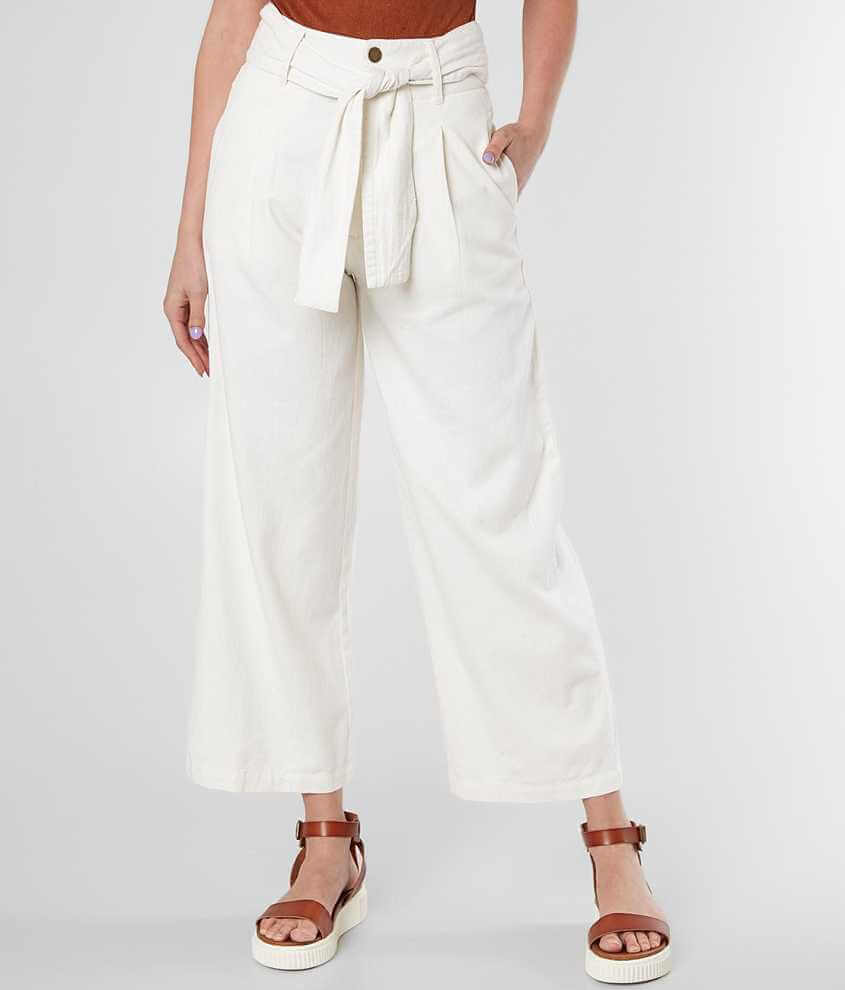 Billabong Now Or Never Cropped Wide Leg Pant front view