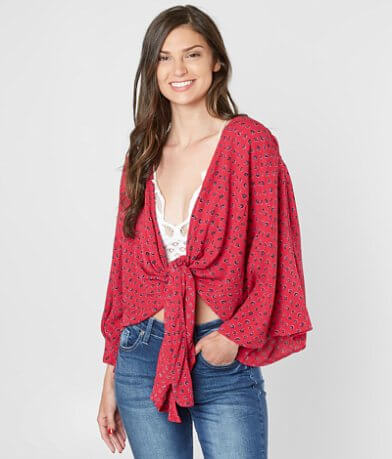 Billabong Knot Yours Front Tie Top