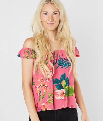 Billabong Peach Kisses Off The Shoulder Top