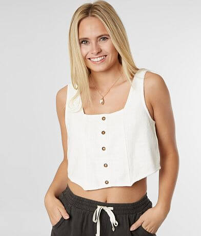 Billabong Back Lit Cropped Tank Top