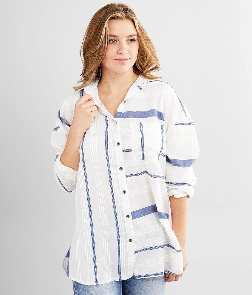 Billabong Full Sails Striped Blouse front view