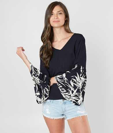 Billabong Island Folk Pieced Crinkle Top
