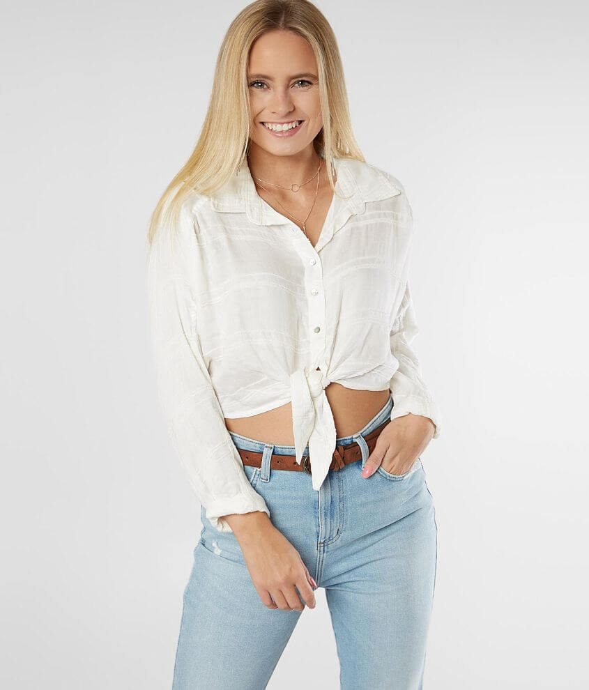 Billabong Sunset Sessions Cropped Blouse front view