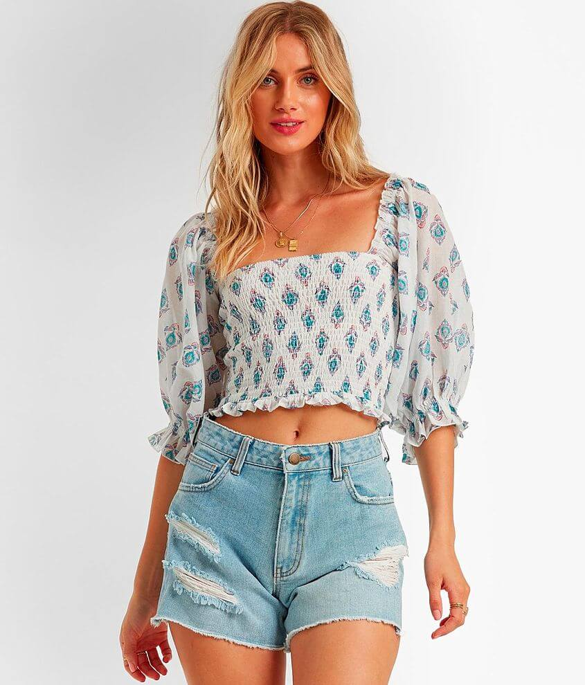 Billabong Feeling Groovy Cropped Top front view