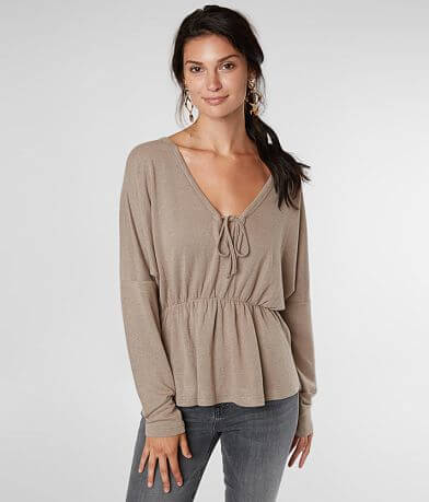 Billabong Make It Peplum Top