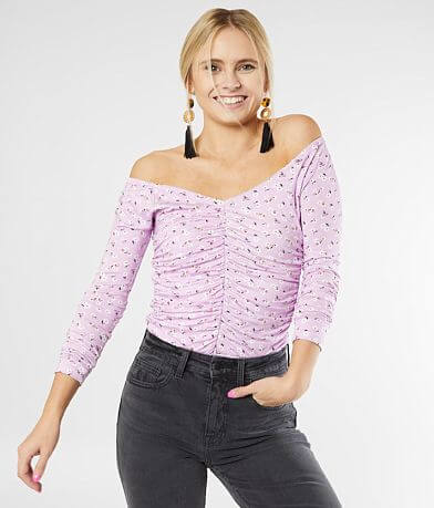 Billabong Hey Girl Ruched Floral Top