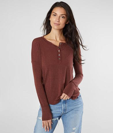 Billabong Any Day Knit Henley Top