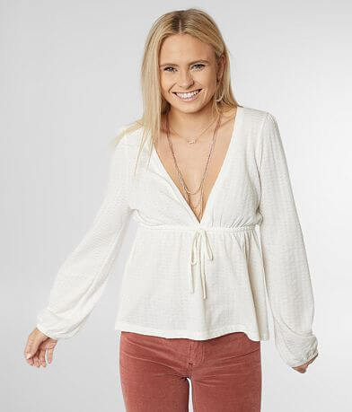 Billabong Shine On Deep V-Neck Top