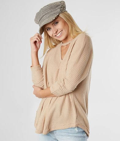f005219704a Billabong Break It Down Cozy Waffle Top