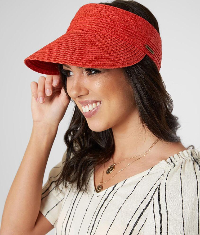 70130649 Billabong Not Now Visor - Women's Hats in Sunset Red | Buckle