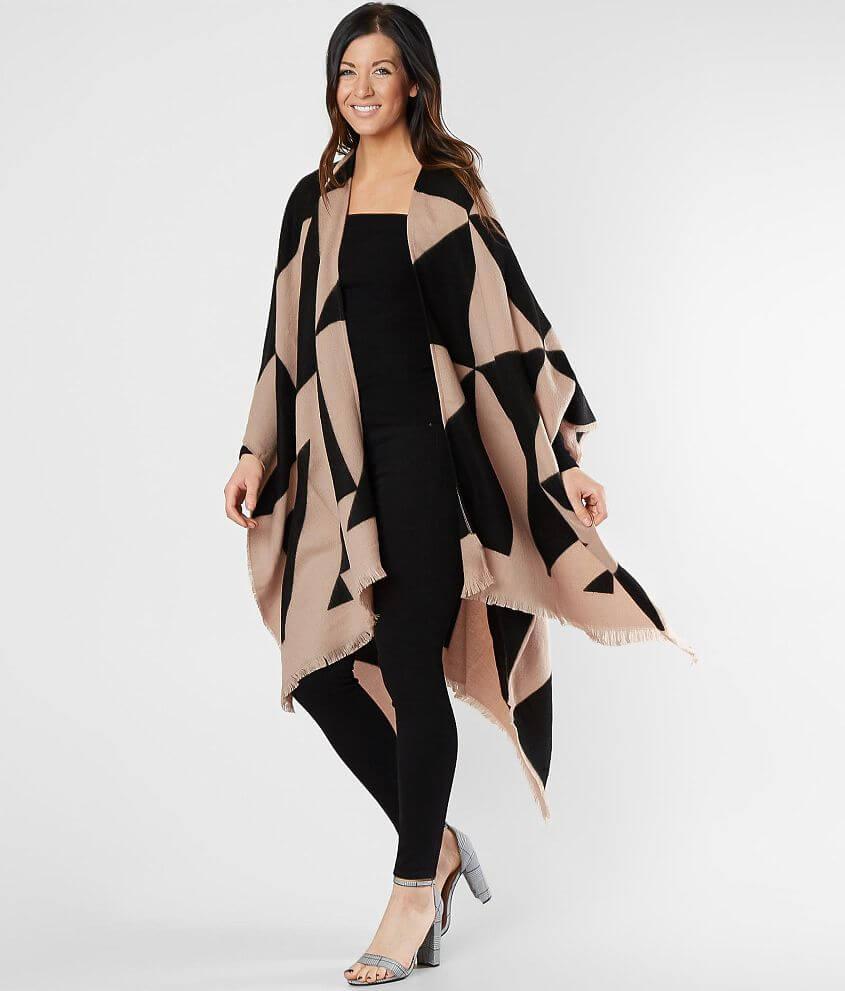 Style JASCSBBE/Sku 603185 Printed fleece poncho Body length 37\\\