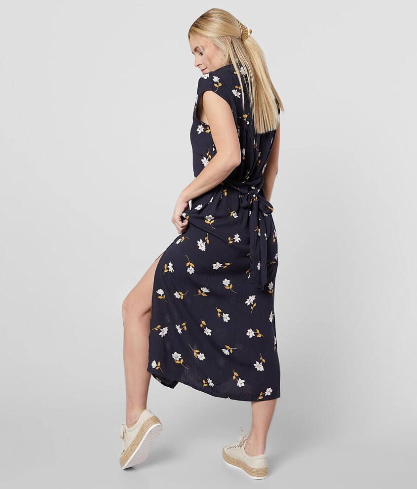 Billabong Little Flirt Floral Midi Dress front view