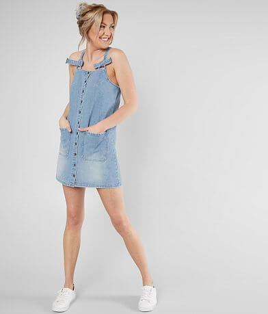 Billabong The Ringer Denim Overall Dress