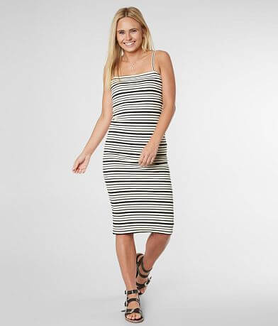 Billabong Midnight Tropic Ribbed Dress