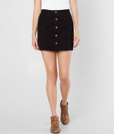Billabong Push My Buttons Corduroy Mini Skirt