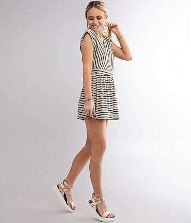 Billabong Easy Day Striped Romper